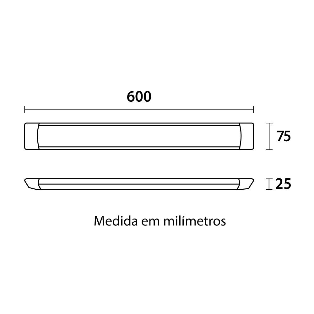 Luminária LED Slim 60cm 18W 4100K Blumenau 80904104