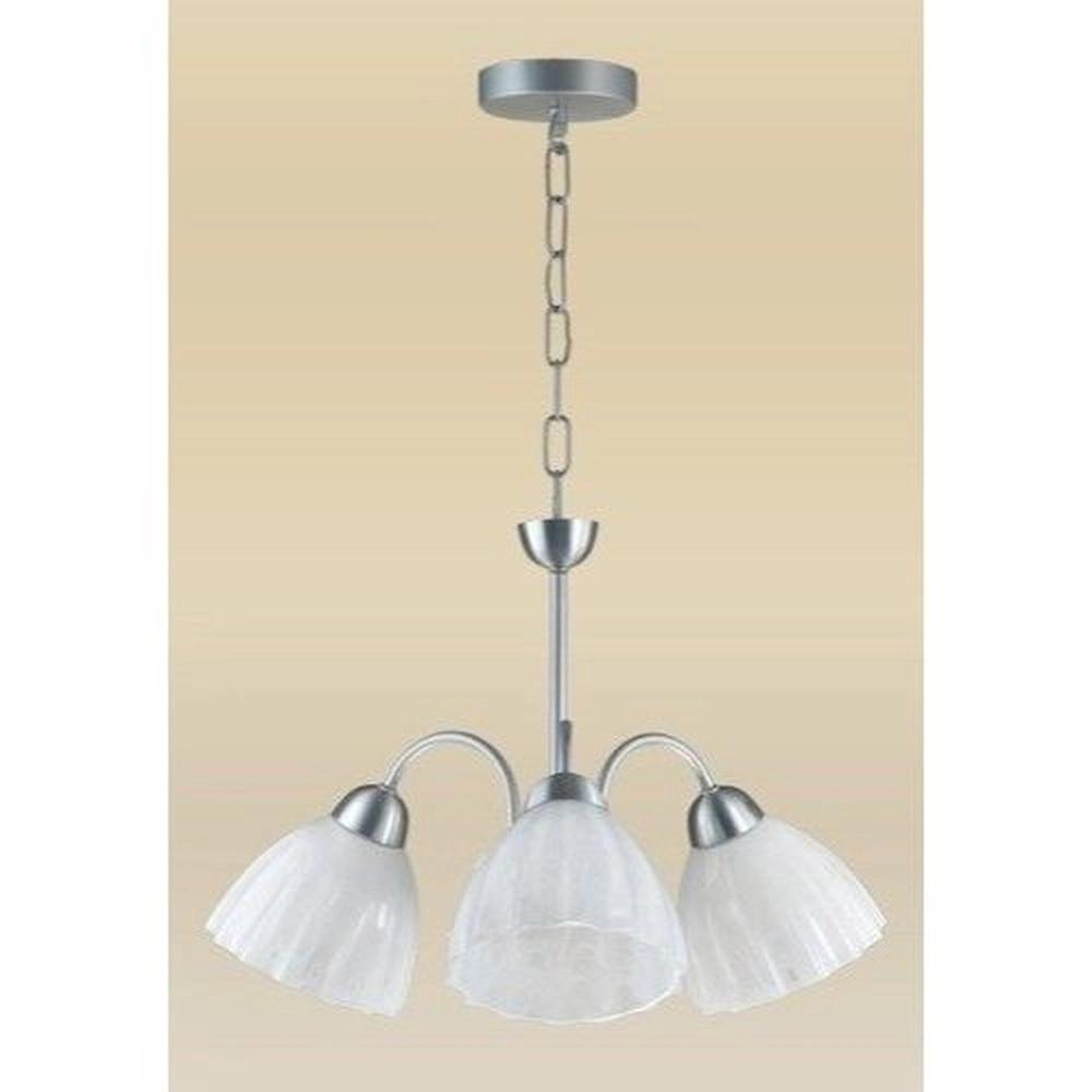 Lustre 3 Lampadas Aluminio e Vidro Madelustre Vesuvio 2078 3AE