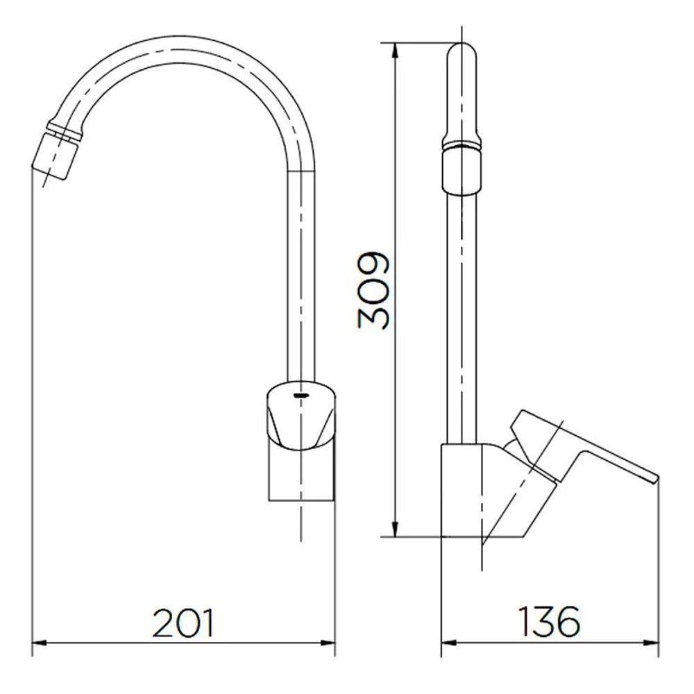 Misturador Monocomando de Mesa para Cozinha Docol Gali 00934606