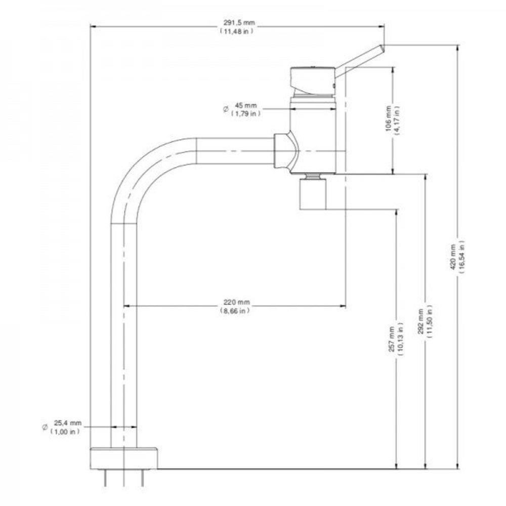 Misturador Monocomando para Cozinha Docol Loggica 00578106