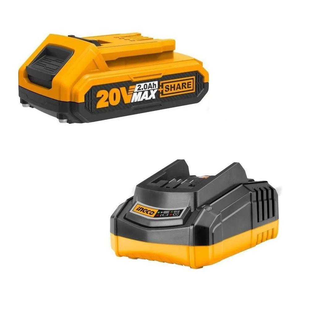 Parafusadeira Furadeira 3/8Pol Bateria IonLitio 20V Ingco CDLI200119