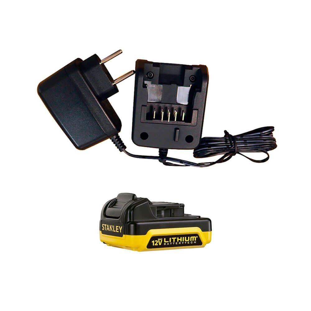 Parafusadeira Furadeira com Bateria 12V Bivolt Stanley SCD121S1