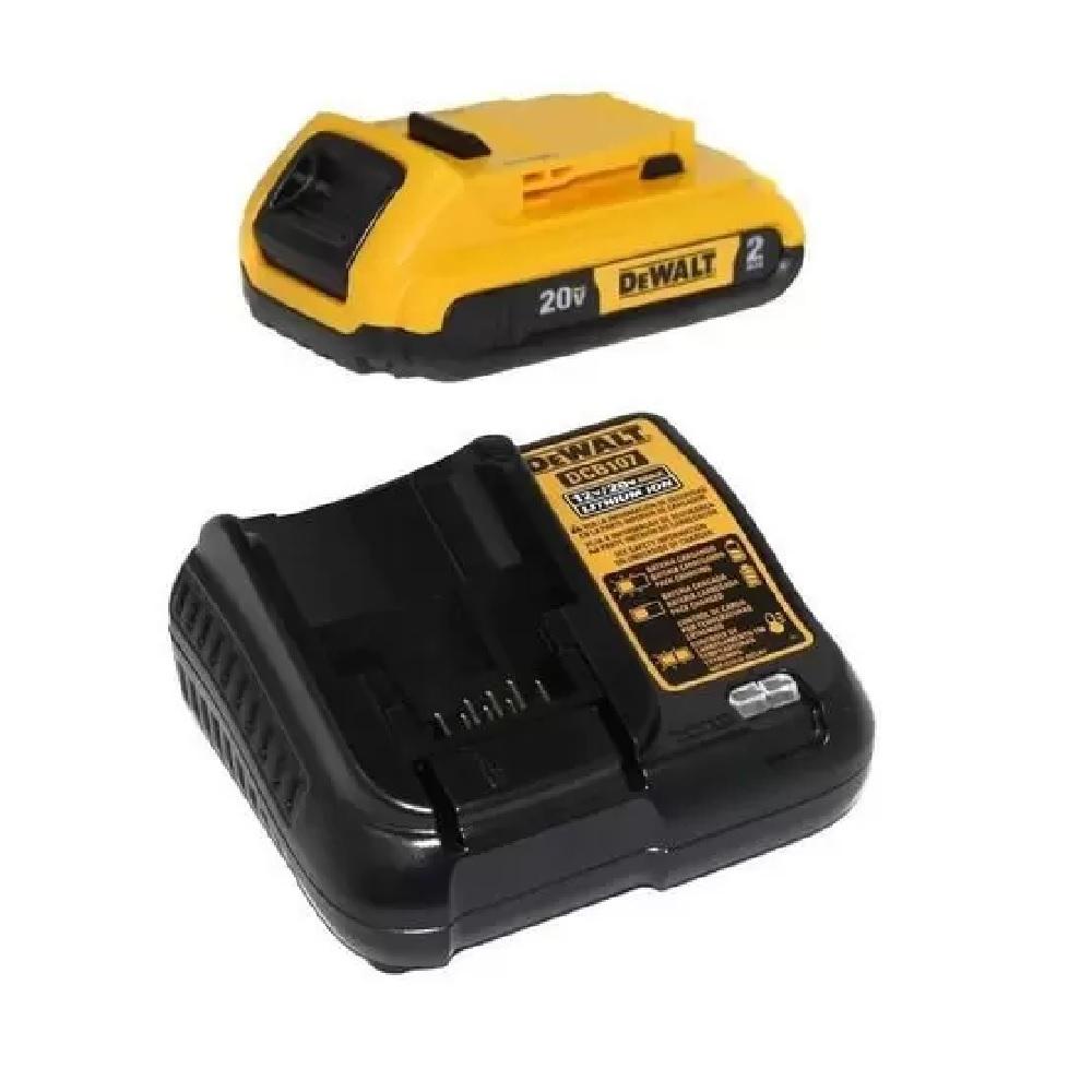 Parafusadeira Furadeira de Impacto 1/2  Bateria 20V Dewalt DCD778L1 BR
