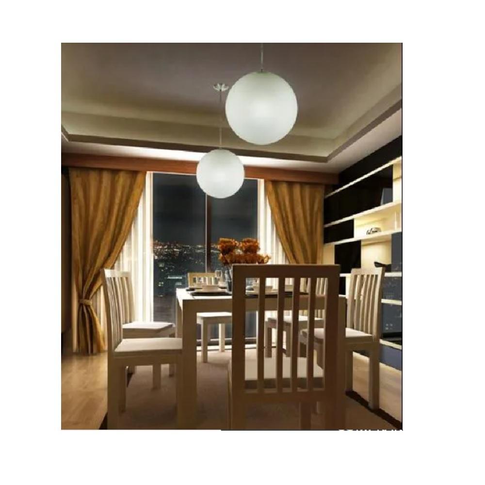 Pendente Esfera Vidro fosco 35cm 1 Lampada Madelustre 2156
