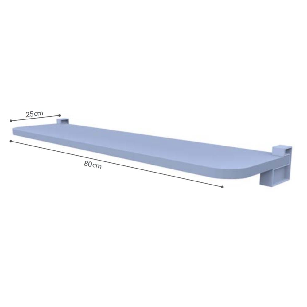 Prateleira KIDS Reta com Suporte 80x25cm Azul PratK 8008 045