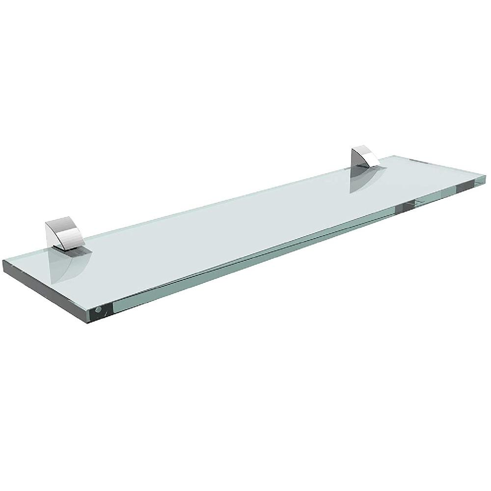 Prateleira Reta de Vidro com Suporte 10x40cm PratK 08617 001