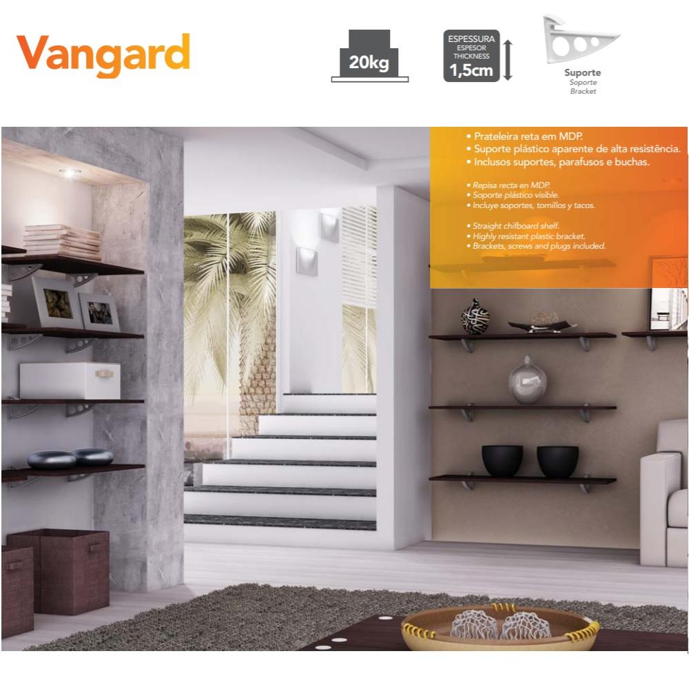 Prateleira Vangard Branca 30x40cm com Suporte PratK 8850 090