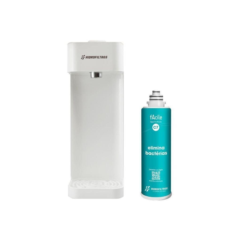 Purificador Agua Natural Facile C7 Branco Hidrofiltros 916 2512