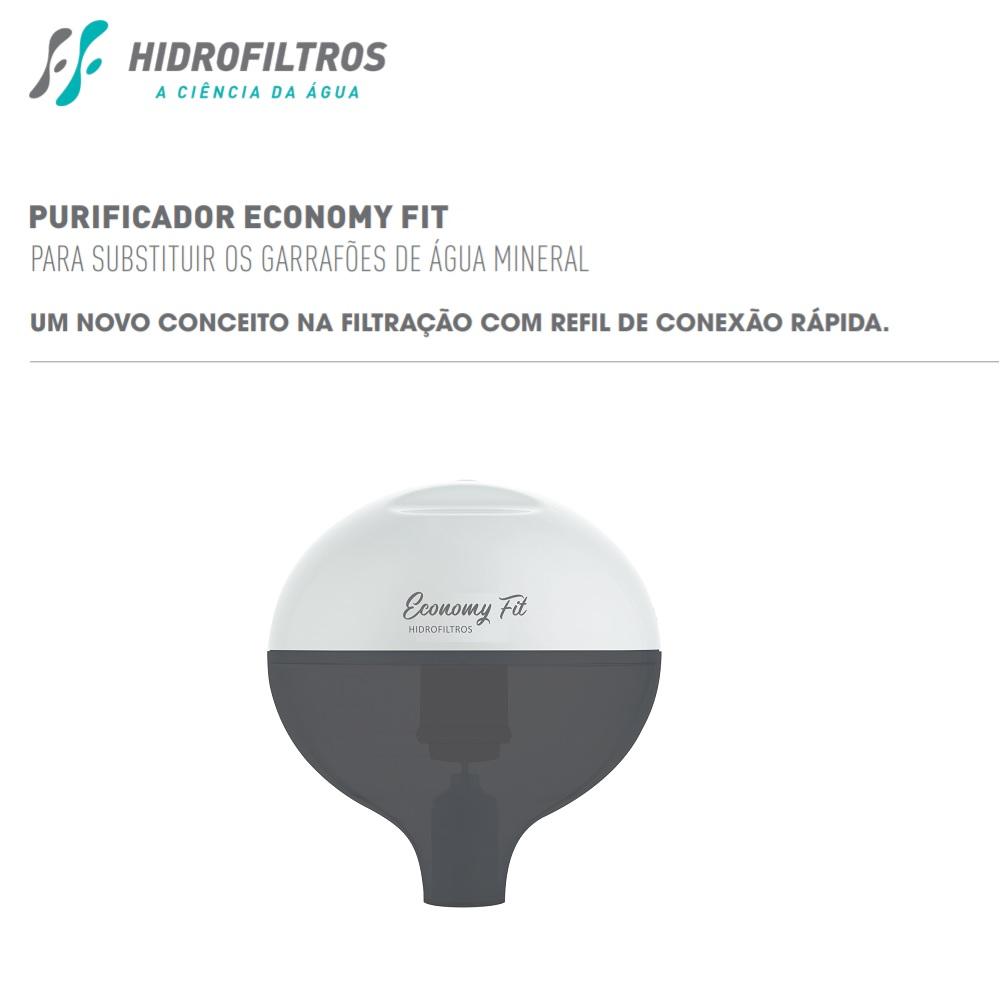 Purificador de Agua Economy Fit com Refil Facile B3 Hidrofiltros 9162487