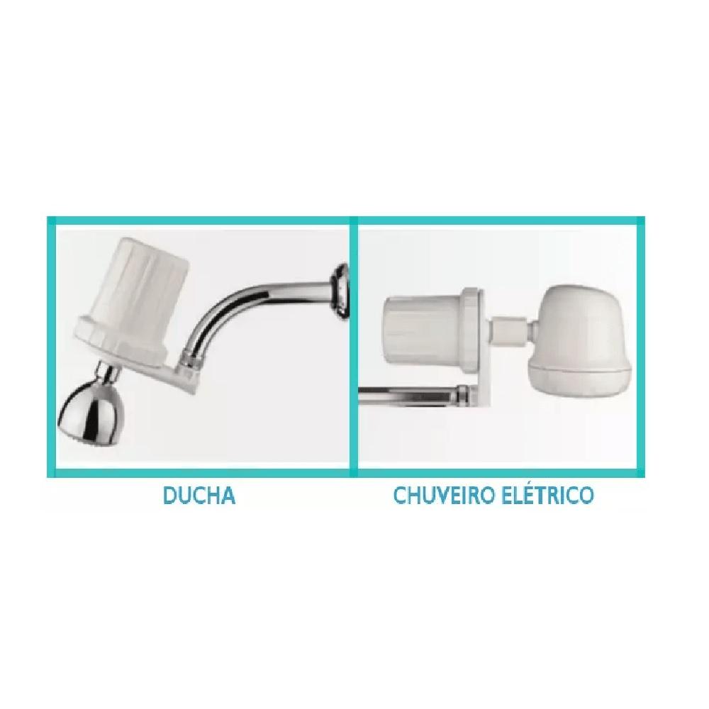 Purificador de Agua para Chuveiro Branco Hidrofiltros 916 0015