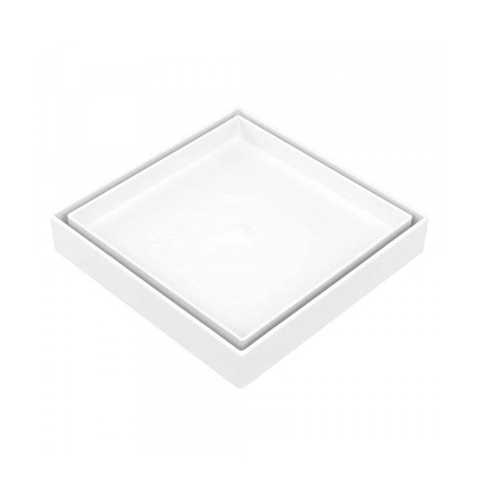 Ralo Oculto Quadrado Universal Branco Astra RO15