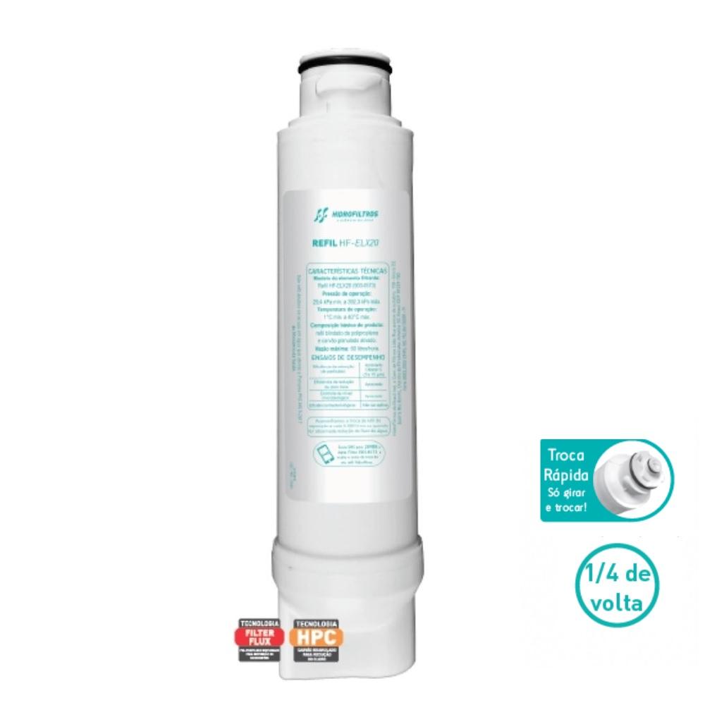 Refil HFELX20 Purificadores de Agua Electrolux Hidrofiltros