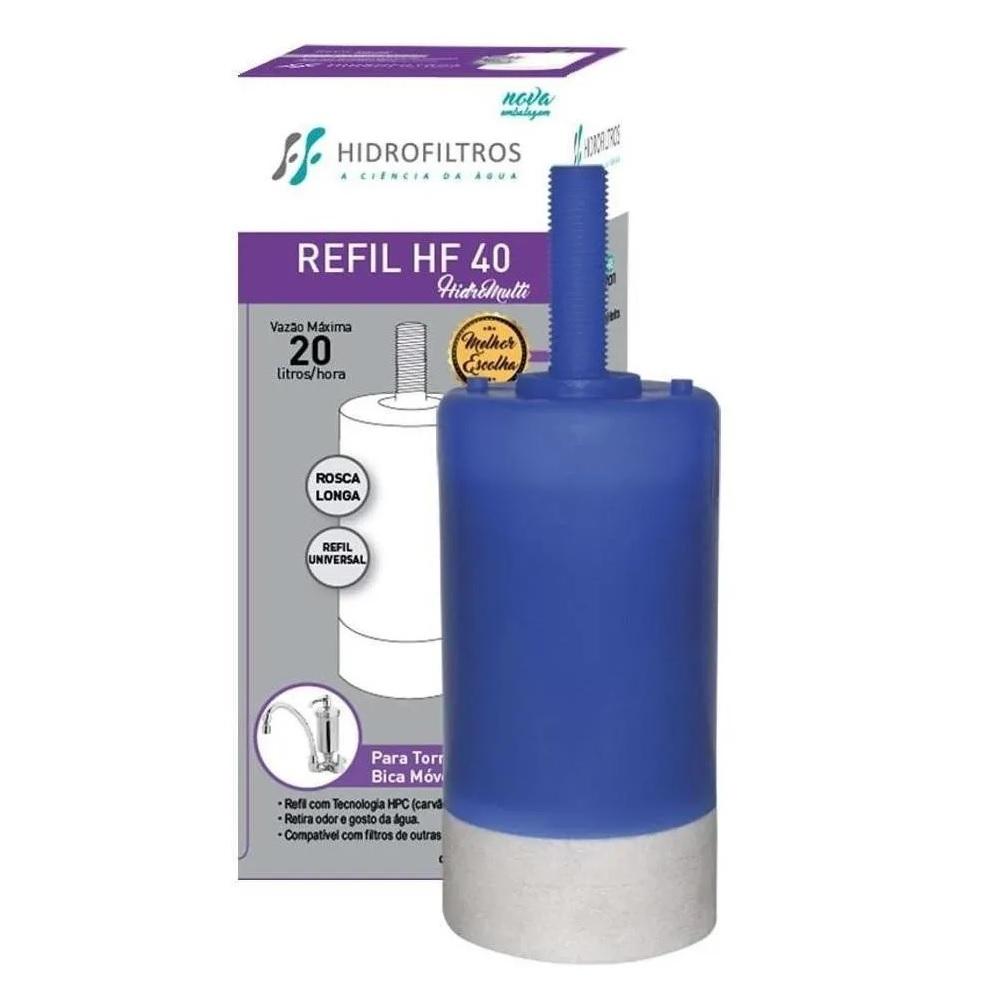 Refil para Filtro de Agua HF40 Rosca Longa Universal Hidrofiltros 9040003