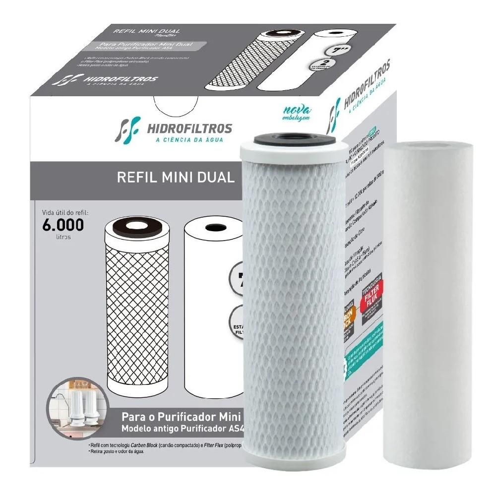 Refil para Purificador de Agua Mini Dual Hidrofiltros 928 0010