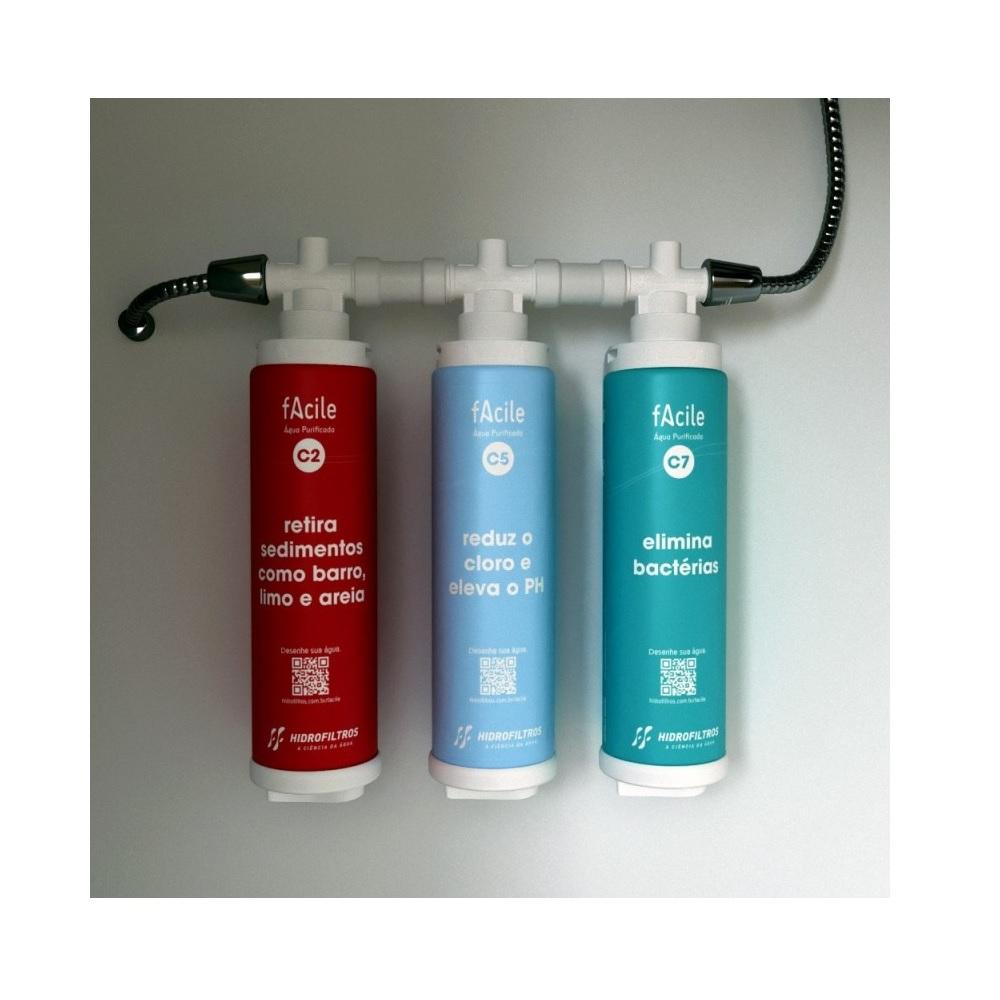 Refil Purificador de Agua Facile C5 Hidrofiltros 903 0552