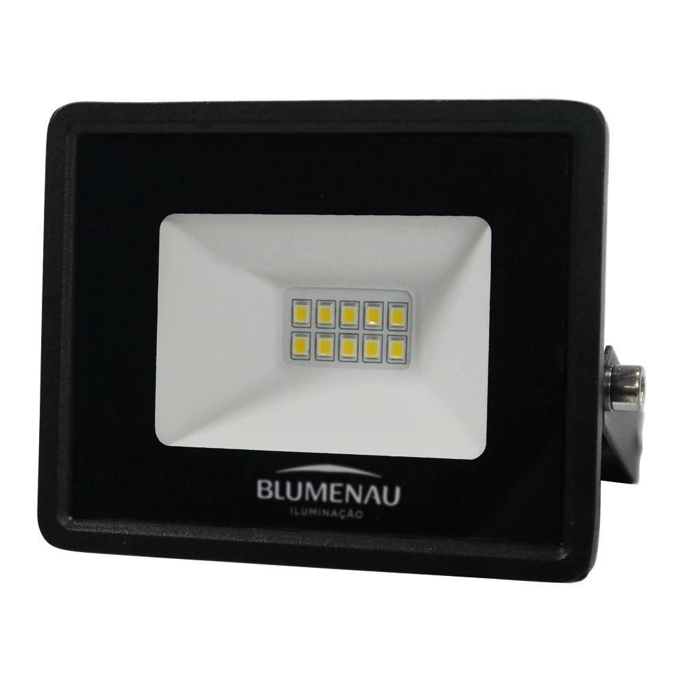 Refletor de LED Tech 10W 6500K Preto Blumenau 76106000