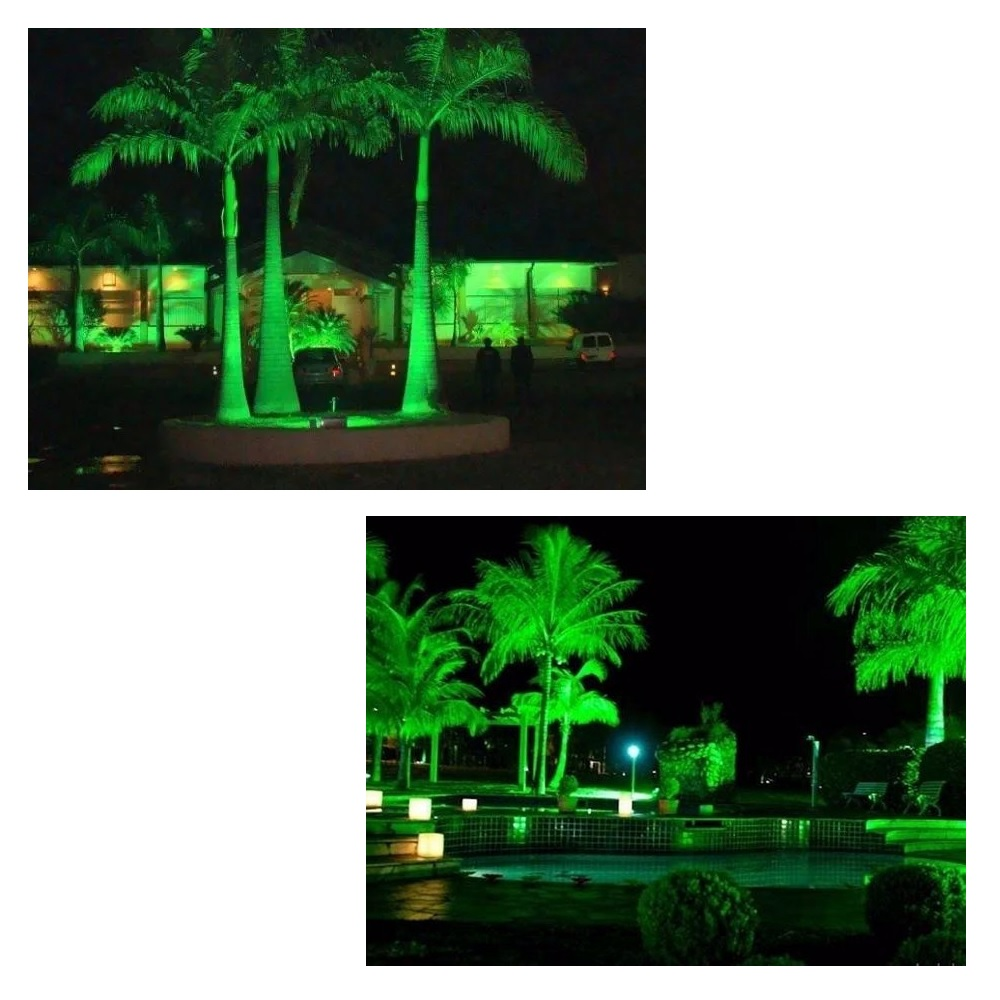 Refletor de LED Tech 10W Luz Decorativa Verde Blumenau 76105000