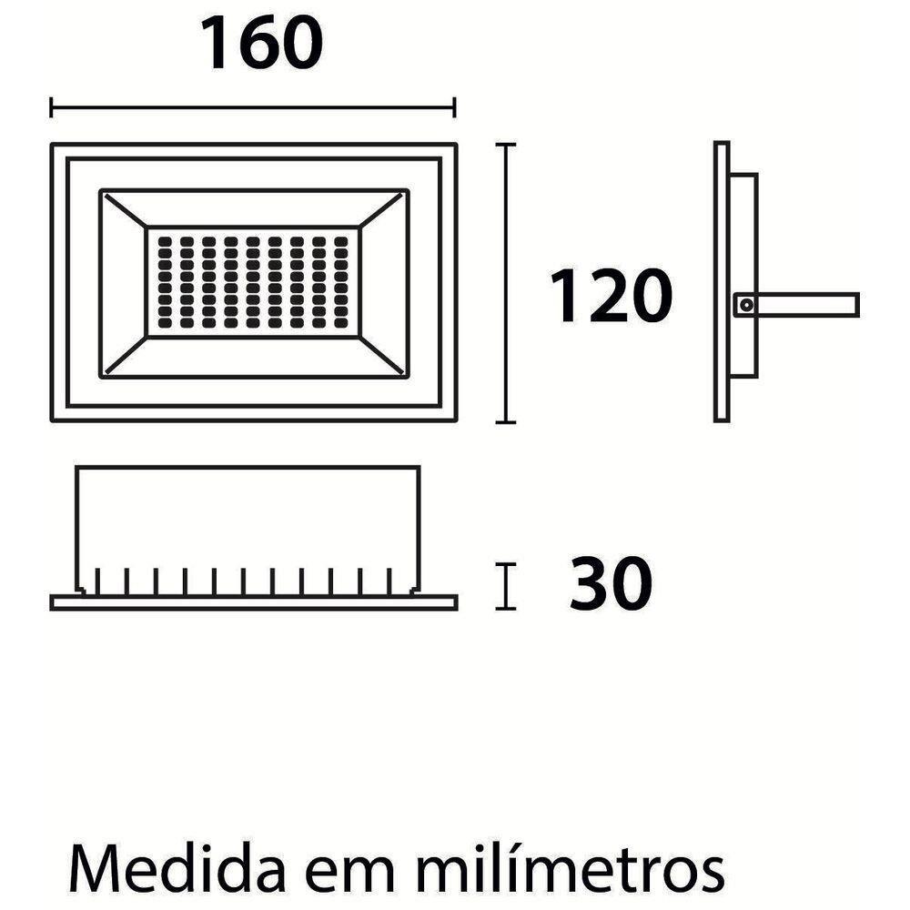 Refletor de LED Tech 30W 6500K Preto Blumenau 76306000