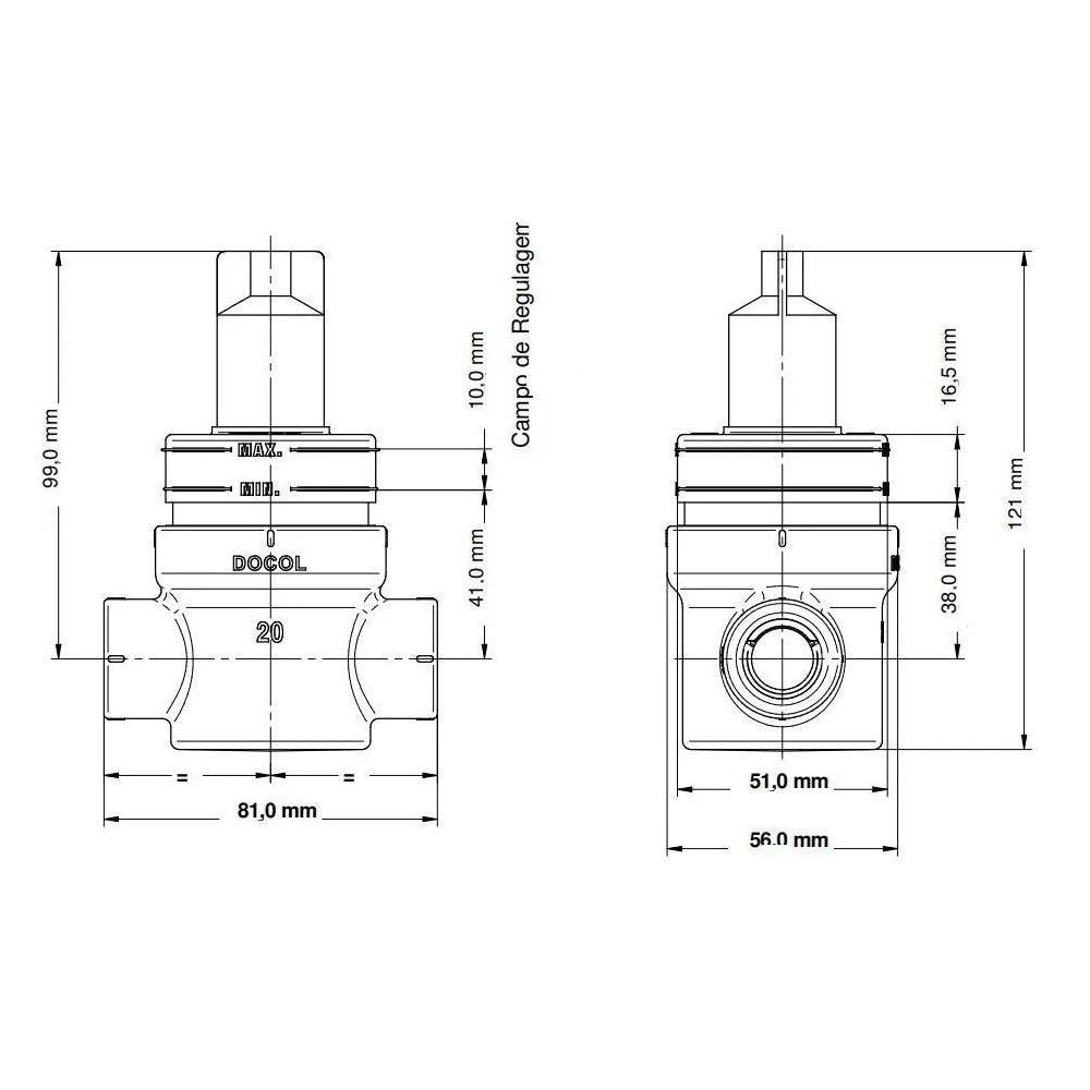 Registro tipo gaveta BaseTec PPR 1/4 volta 25mm Docol 00568400