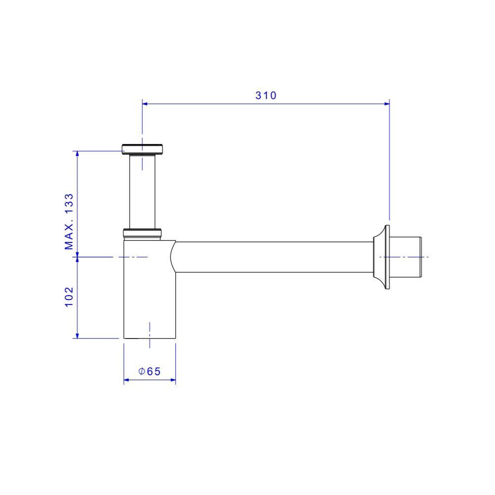 Sifao para cozinha e tanque 1 1/2 Cromado Deca 1680 C112
