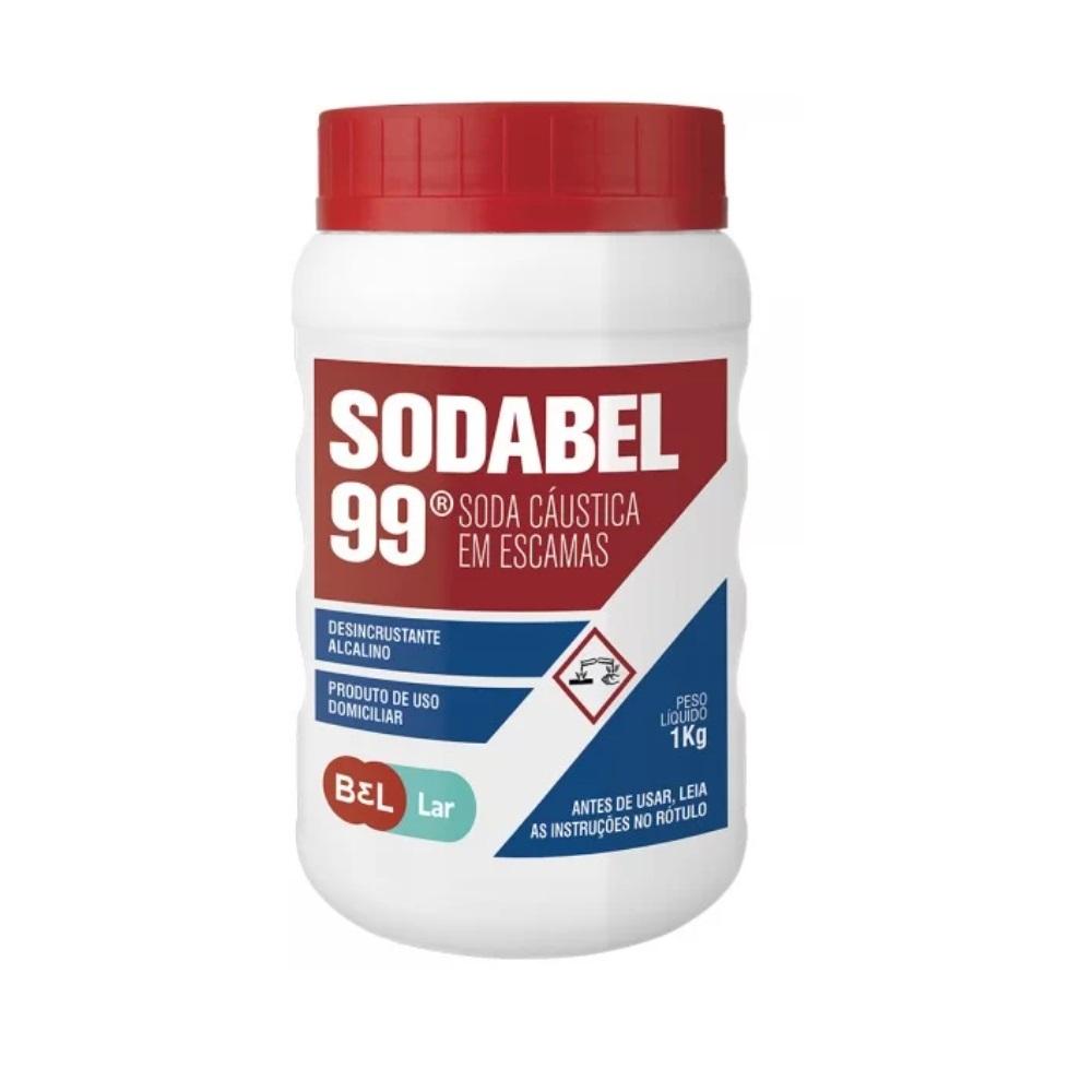 Soda Caustica em Escamas 1Kg Sodabel 99 Buschle Lepper