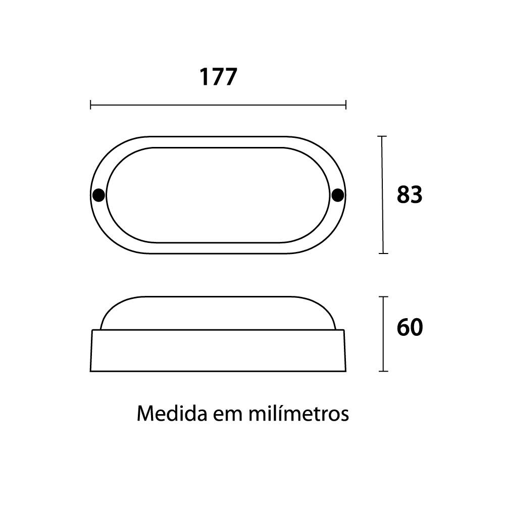 Tartaruga LED Easy 5W 6500K Branca Blumenau 20056004