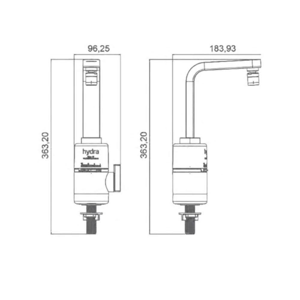 Torneira Multitemperaturas SLIM 4T Bancada 220V Hydra TBSL4552BR