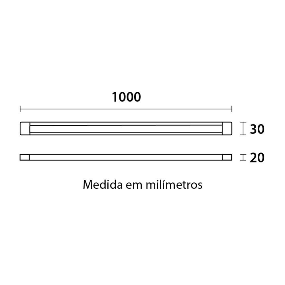 Trilho eletrificado para Spots 1M Branco Blumenau 30011004