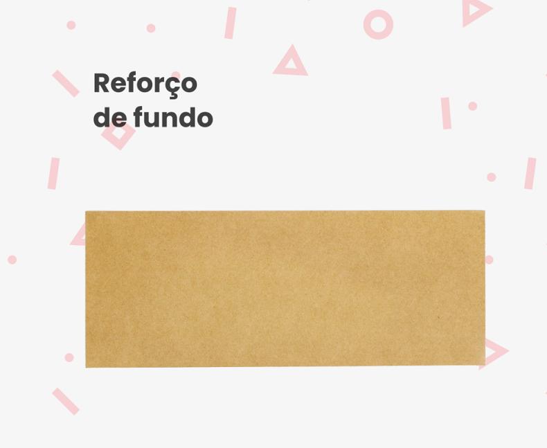 Reforço de Fundo Sacola Tamanho Delivery (Pacote 100 Unid)