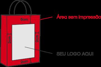 Sacola Kraft Personalizada Tamanho M (32 x 39 x 13)