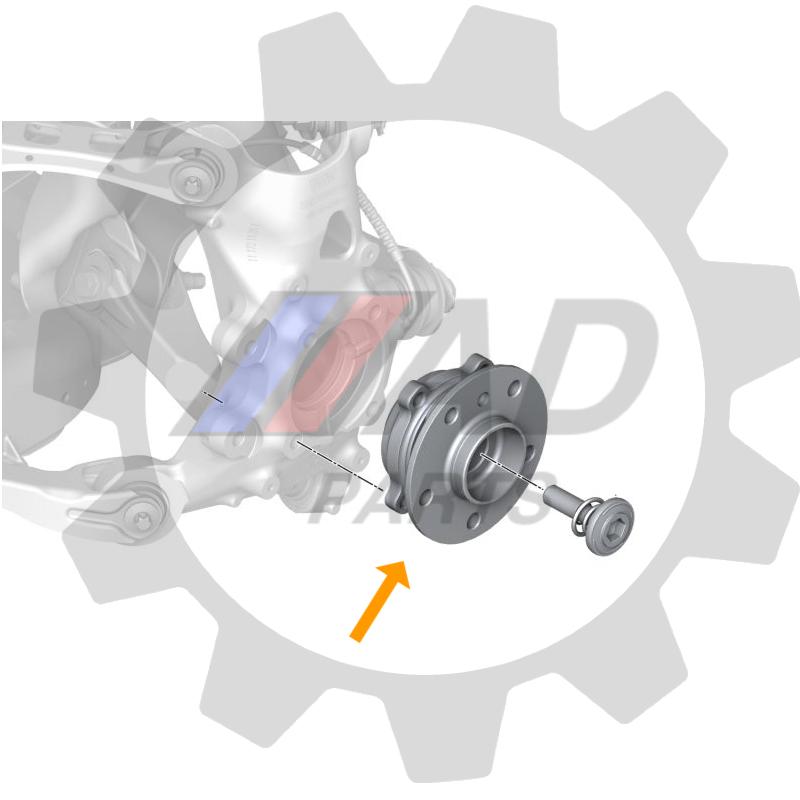 Cubo de Roda Traseira BMW i8 de 2014 até 2020