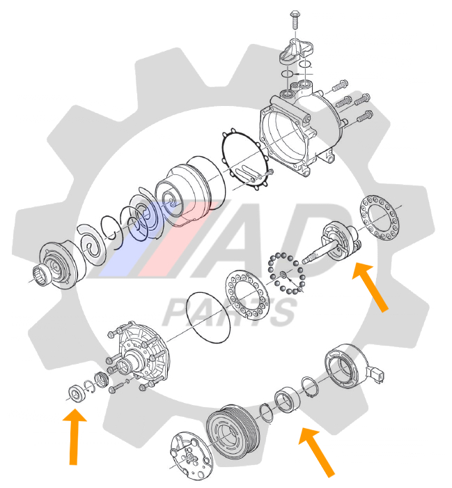 Kit Rolamentos Ar Condicionado Lifan 320 2009 até 2013