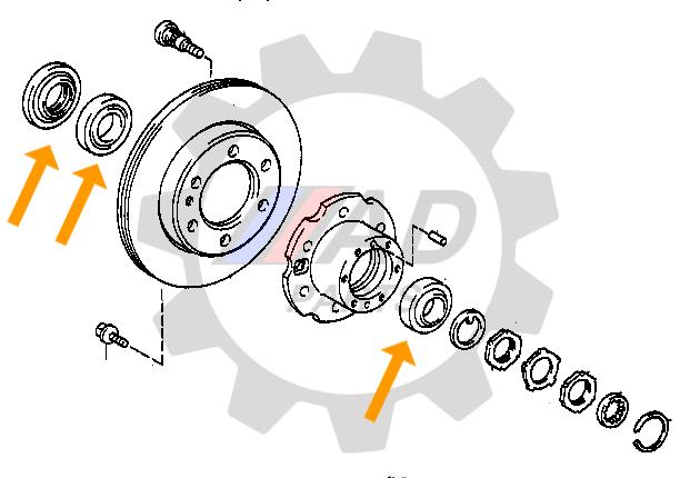 Kit Rolamentos Roda Dianteira MITSUBISHI L200 1991 até 1998 4x2