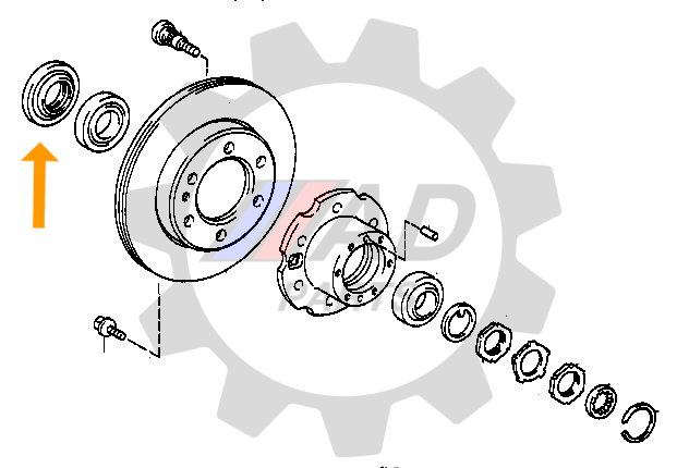 Retentor Roda Dianteira Hyundai HR 2005 até 2016
