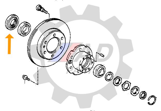 Retentor Roda Dianteira Mitsubishi L200 1991 até 1998, 4x2
