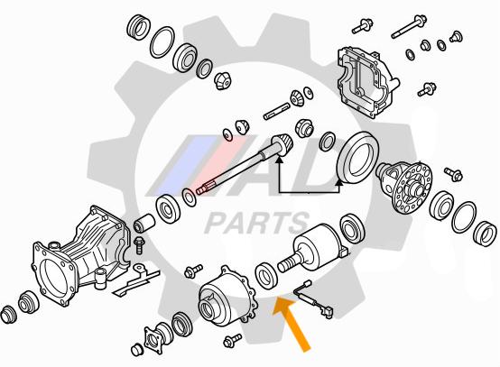 Rolamento Acoplamento Diferencial Traseiro Renault Duster 2010 até 2019