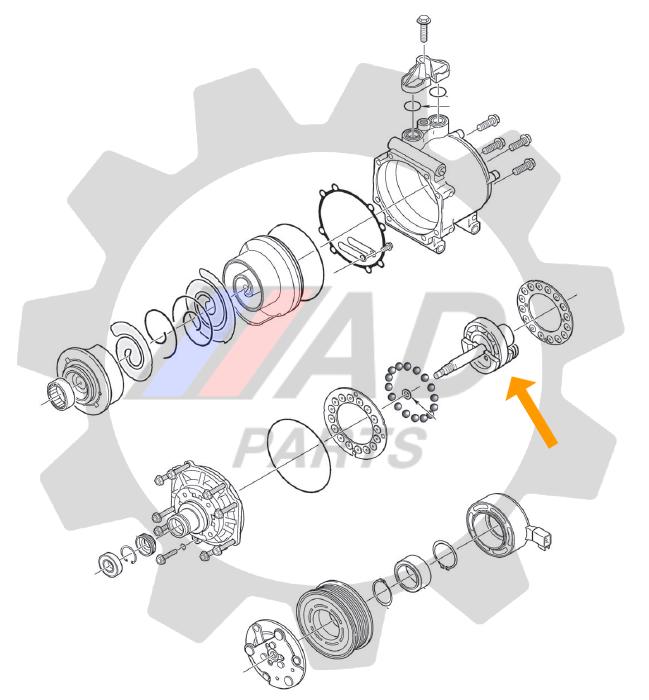 Rolamento Ar Condicionado (interno) Lifan X60 2013 até 2019