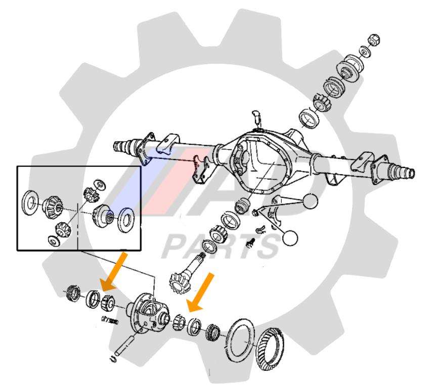 Rolamento Coroa Diferencial Traseiro DODGE RAM 2500 de 2003 até 2013