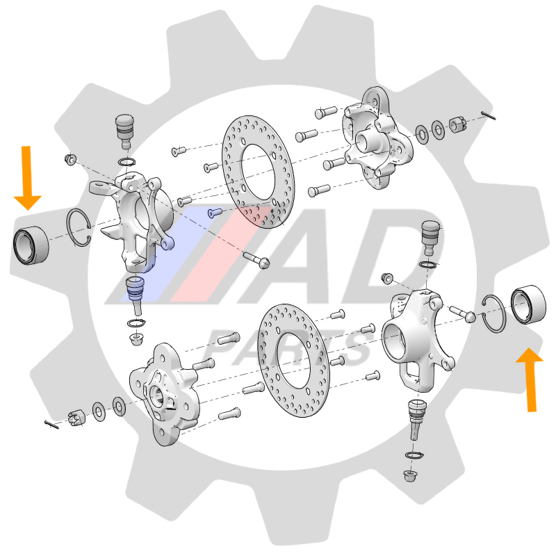 Rolamento de Roda POLARIS RZR de 2018 até 2021