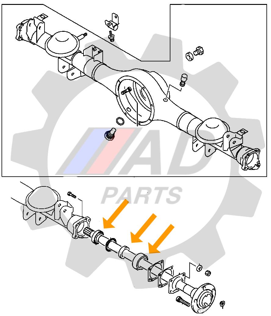 Rolamento de Roda Traseira MITSUBISHI Pajero TR4 2003 até 2014