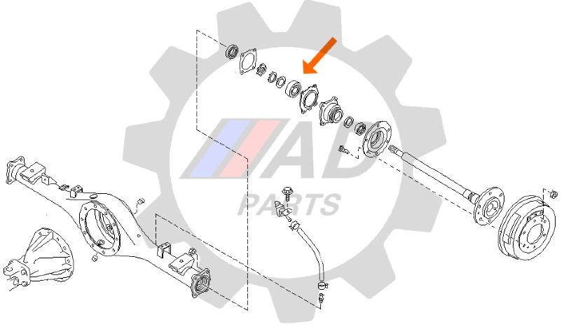 Rolamento de Roda Traseira NISSAN Picape D21 1981 até 1998