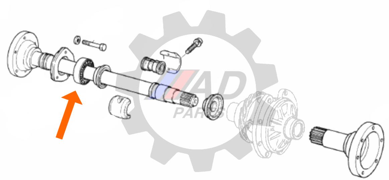 Rolamento de semi-eixo Fiat Toro 1.8L AT 2016 até 2021