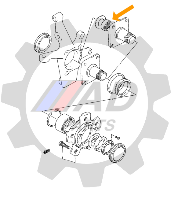 Rolamento Manga Do Eixo Chevrolet Tracker de 2001 até 2009