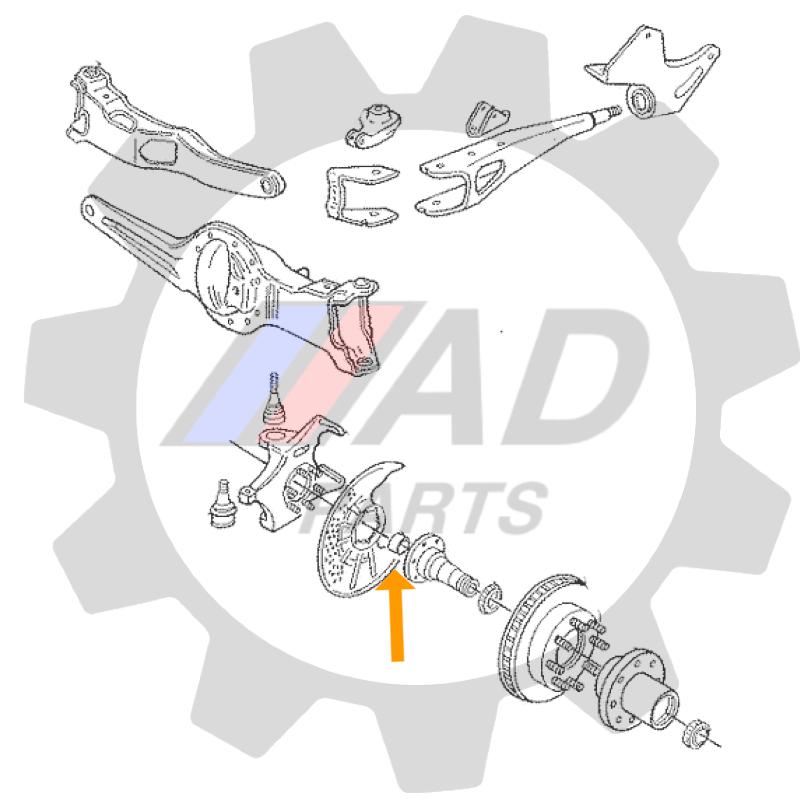 Rolamento Manga do Eixo Ford F-1000 4x4
