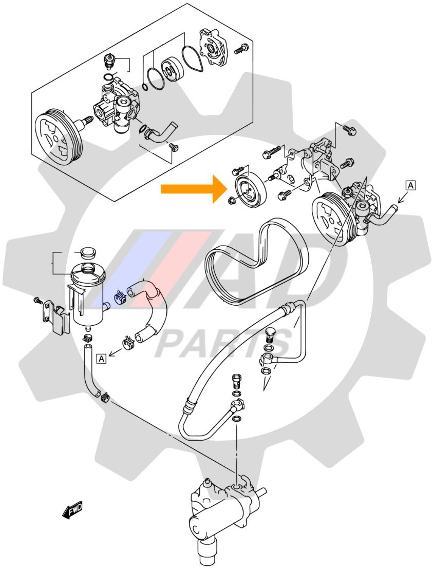 Rolamento Polia Esticadora Suzuki Jimny de 2001 até 2019