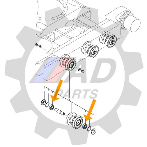 Rolamento Roletes Lagarta Mini Escavadeira YANMAR SV08
