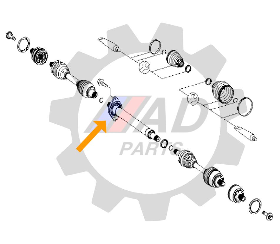 Rolamento Semi Eixo Mercedes Benz A200/A250 2013 até 2020