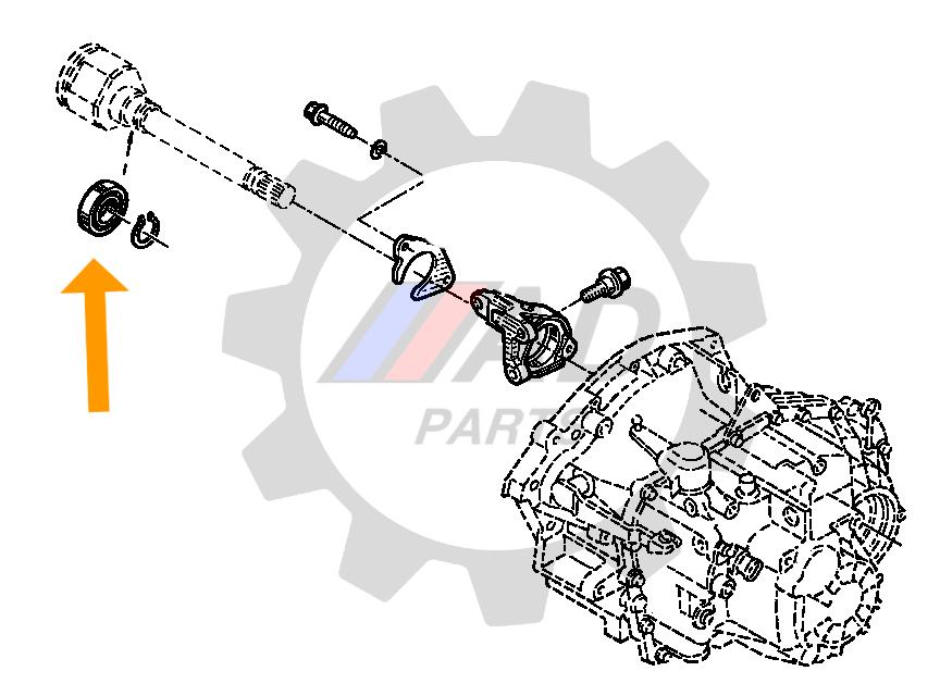 Rolamento Semi Eixo Renault Duster de 2011 até 2020