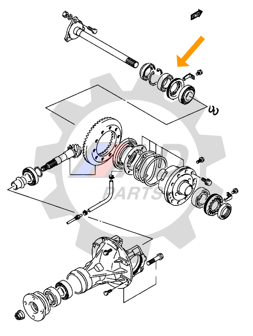 Rolamento Semi-Eixo Suzuki Grand Vitara 2006 até 2015, Traseiro