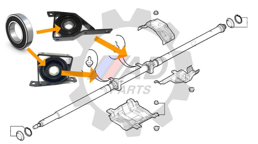Rolamento suporte eixo cardan FIAT Toro 4x4